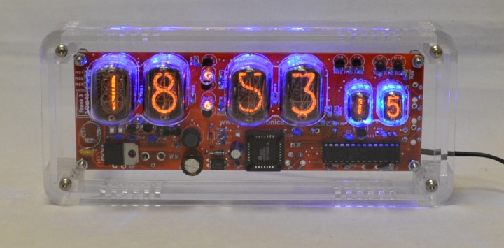 IN-12 / IN-17 Nixie Clock Kit With Case