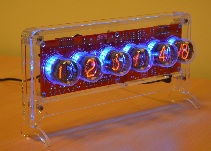 Halo Nixie Clock Kit for IN-4 Tubes (no Tubes)