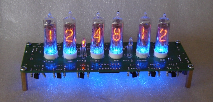 IN-16 Nixie Tube Clock Kit 'SixNix' With Tubes Included