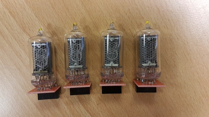 Set of FOUR QTC Tube Cells with Mullard ZM1082